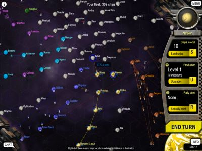 mayhem intergalactic retro space strategy game
