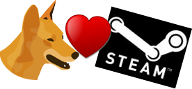'Inventive Dingo loves Steam!'